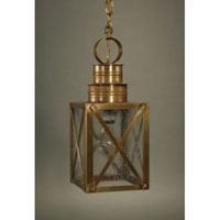 Suffolk 1 Light 6 inch Antique Brass Hanging Lantern Ceiling Light in Seedy Marine Glass